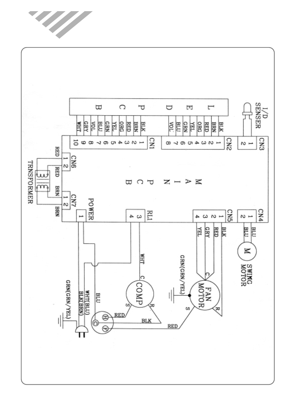 Wiring diagram | Daewoo ROOM AIR CONDITIONER DWC-121R User Manual | Page 13  /