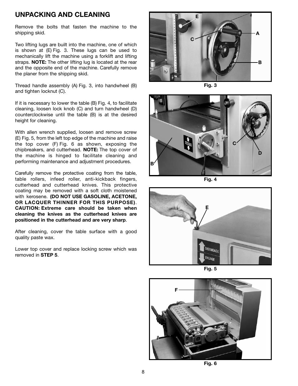 "Delta DC-580 20/"" Planer 22-450 /& 22-451 Instruction /& Parts Manual #2026"