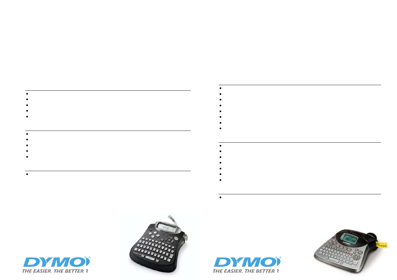 Labelmanager 150, Labelmanager 450 | Dymo SD17293 User