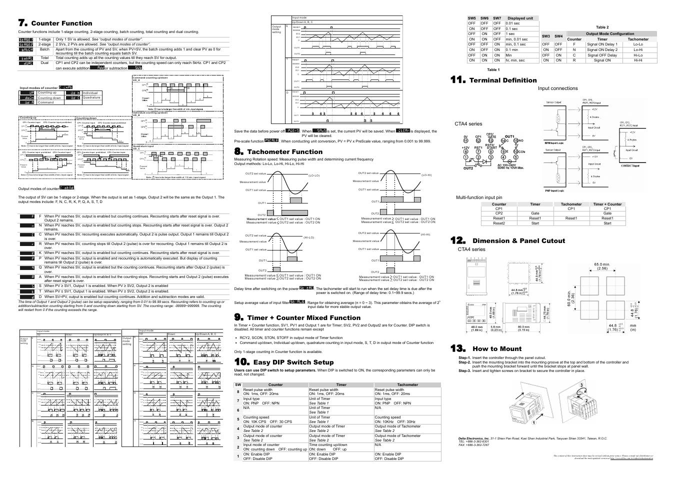 prohibit a a aprohibit a delta electronics timer counter rh manualsdir com Delta Electronics Fans Delta Electronics Power Supply