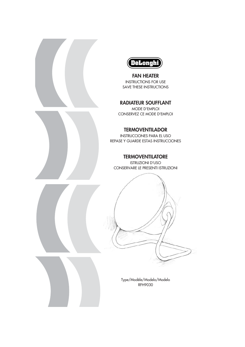 Delonghi Rfh9030 User Manual 16 Pages