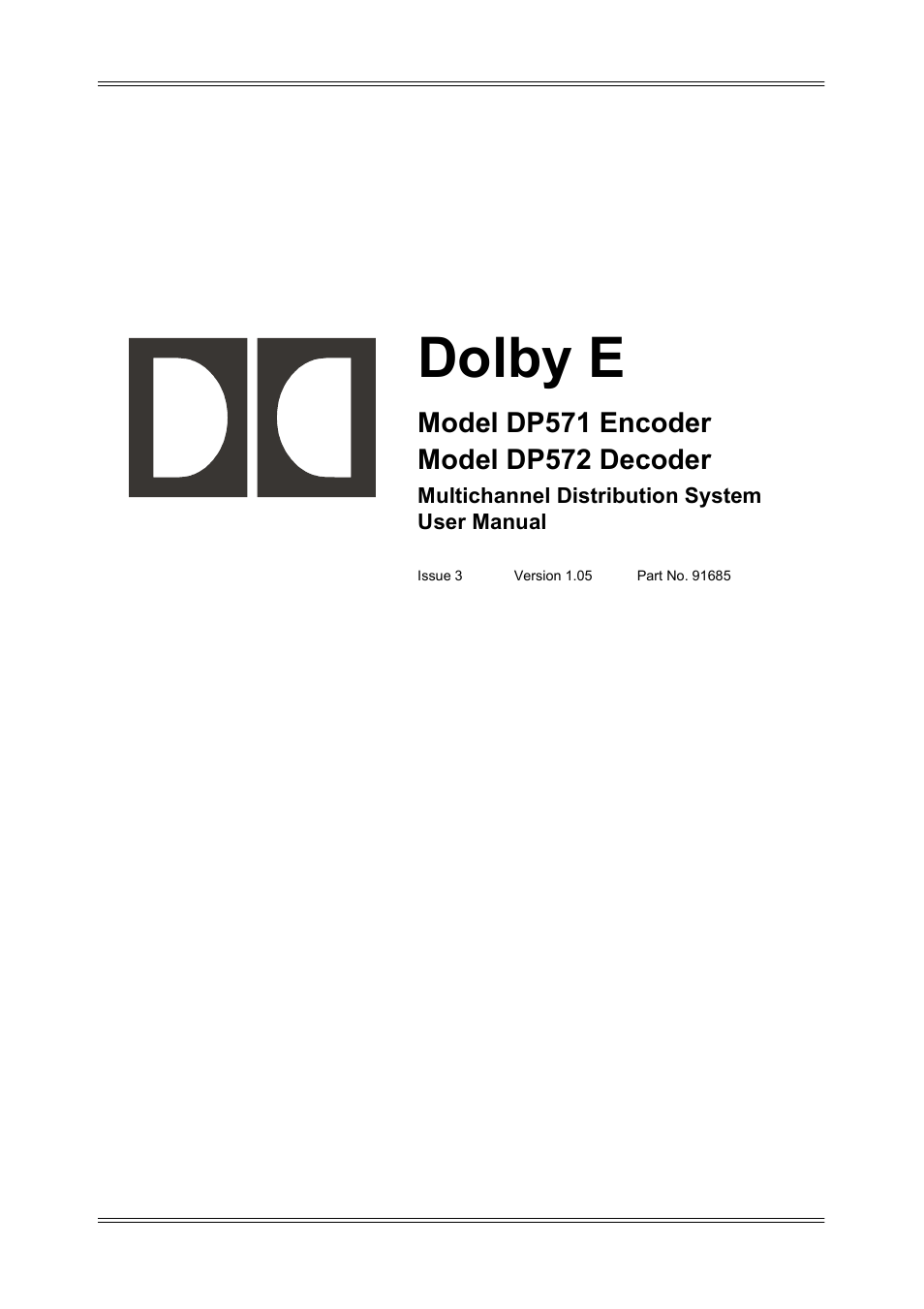 dolby laboratories dp572 user manual 62 pages also for dp571 rh manualsdir com Dolby Laboratories San Francisco Dolby Laboratories San Francisco