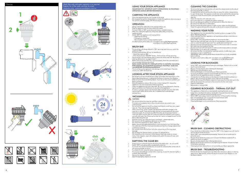 Инструкция по эксплуатации на пылесос dyson дайсон джеймс сэр