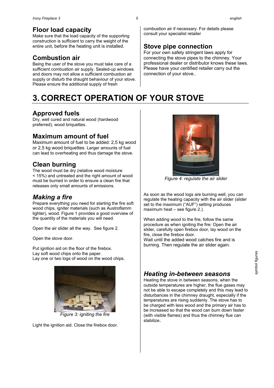 correct operation of your stove floor load capacity combustion air rh manualsdir com