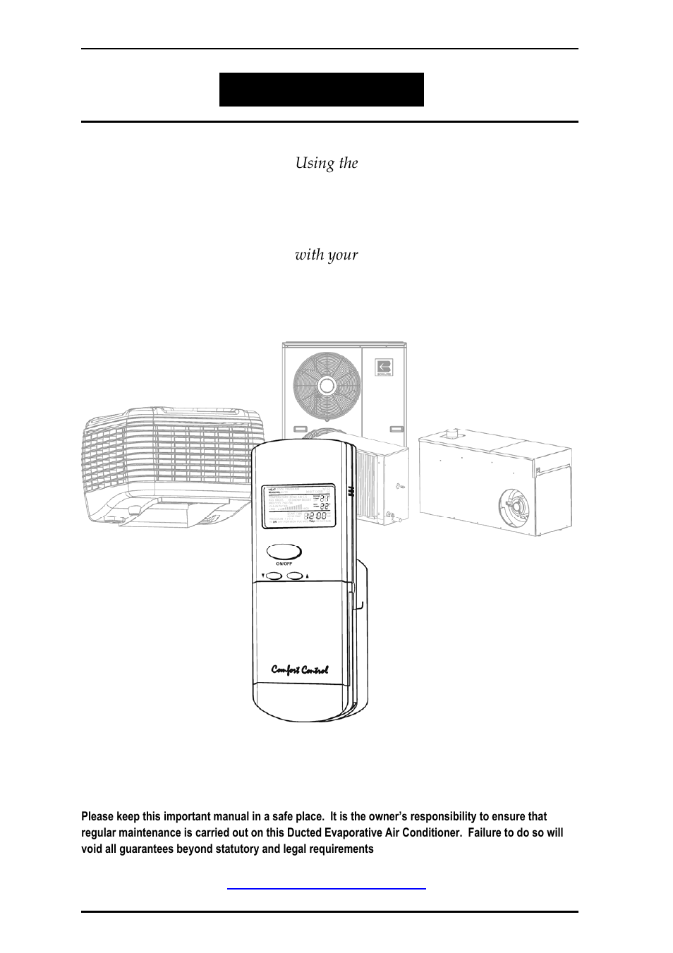 Bonaire Comfort Control Rflv User Manual 52 Pages