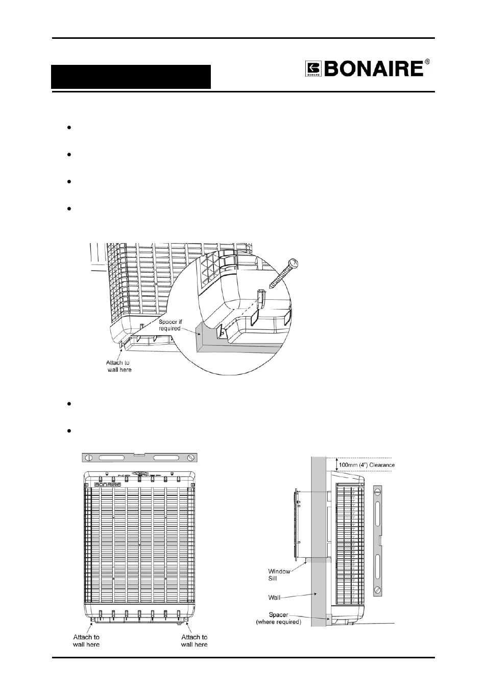External fixing of the unit, Installation | Bonaire Durango Window Cooler  User Manual | Page