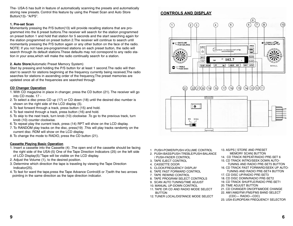 Custom Autosound USA-5 User Manual | Page 7 / 8 | Original mode