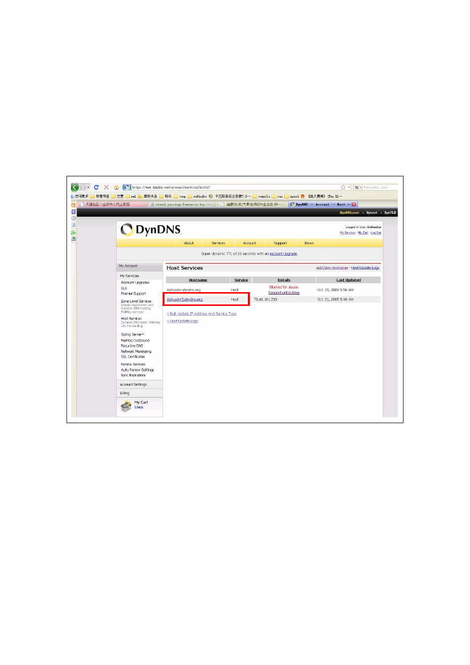 Dahua Technology Dyndns test User Manual | 5 pages