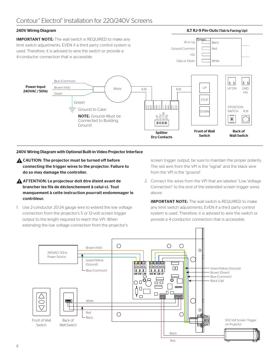 Contour, Electrol | Da-Lite Contour Electrol User Manual | Page 8 / 12