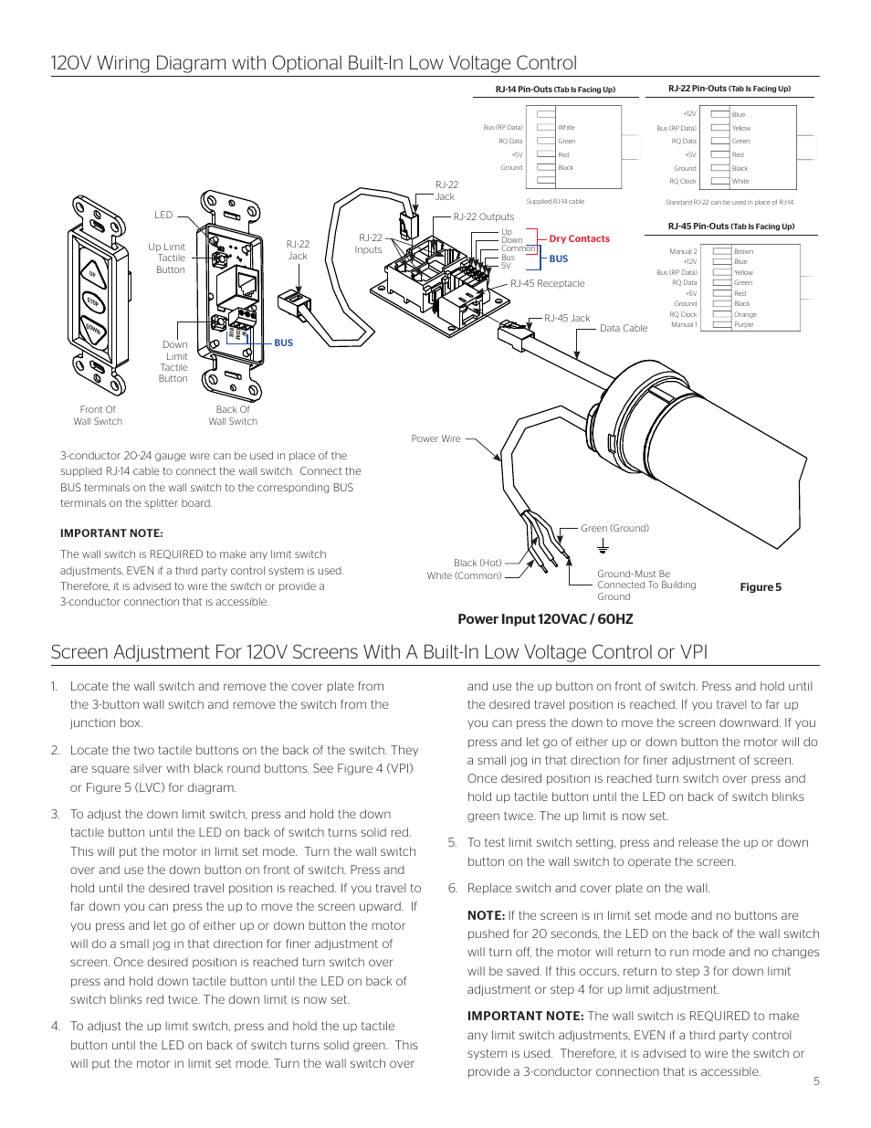 Da-Lite Cosmopolitan Electrol User Manual | Page 5 / 8