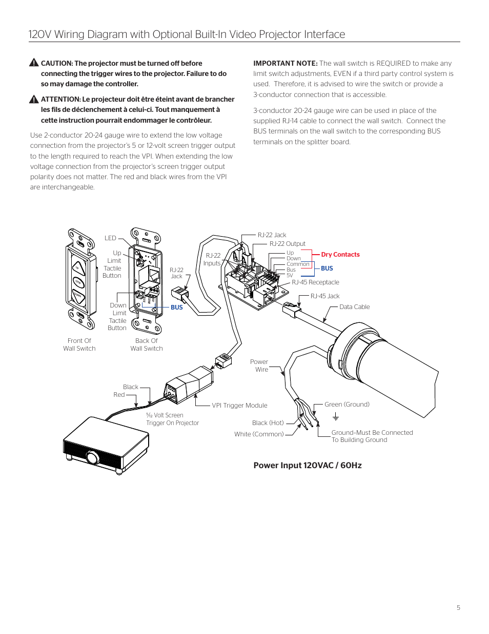 Da Lite Tensioned Cosmopolitan Electrol User Manual Page 5 8 Switch Connection Diagram