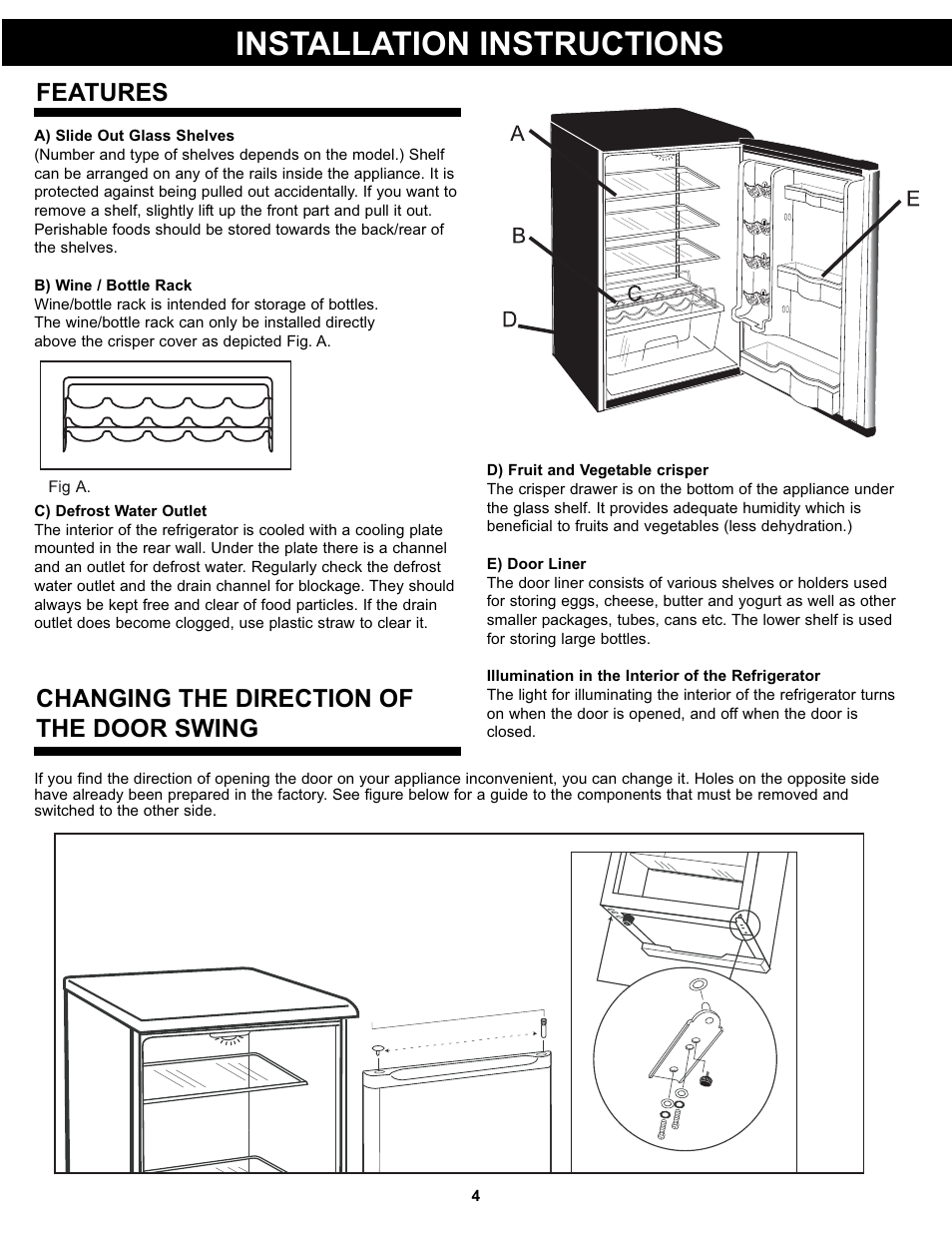 Installation Instructions Changing The Direction Of The