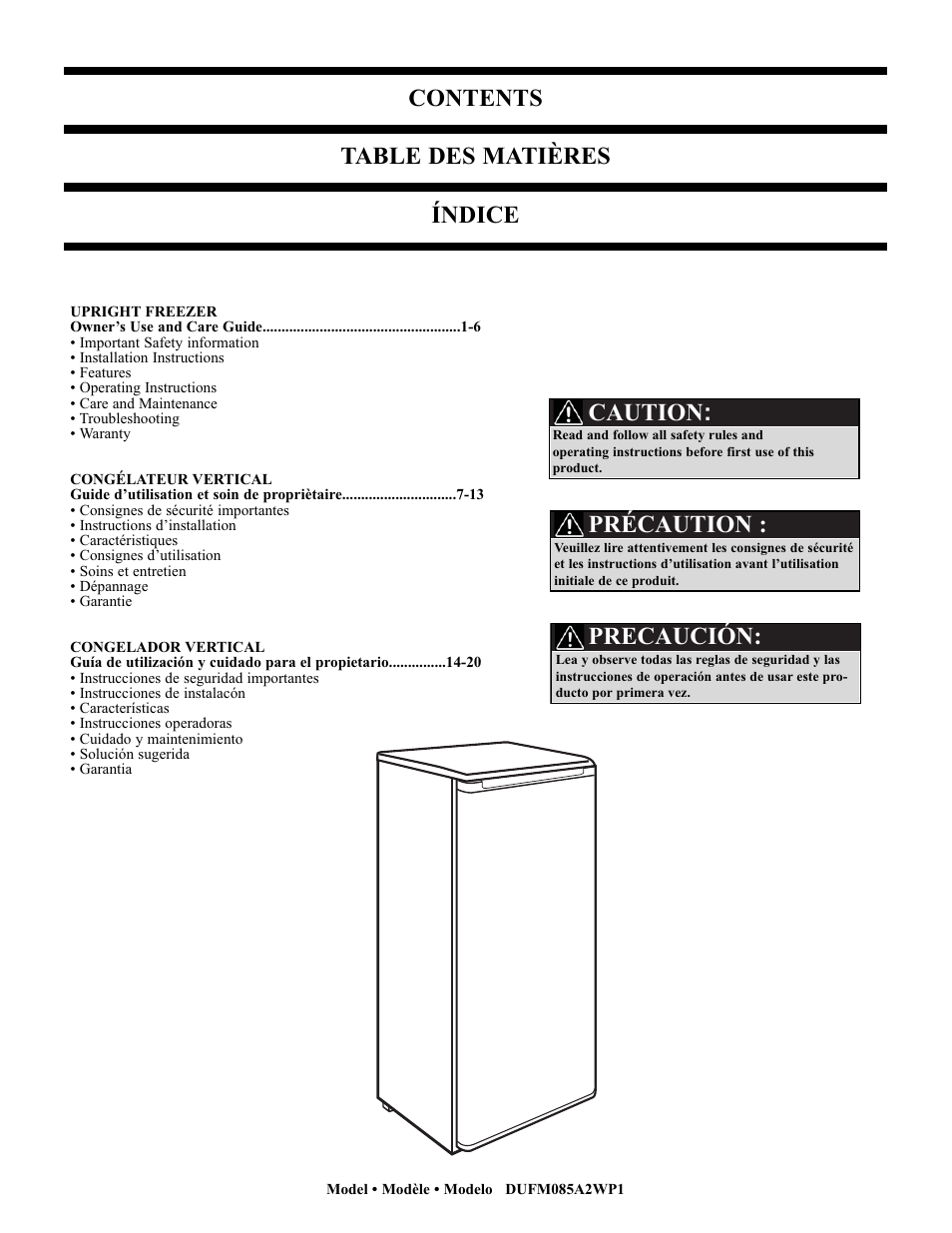 Danby dufm085a2wp1 user manual | page 23 / 23 | original mode.