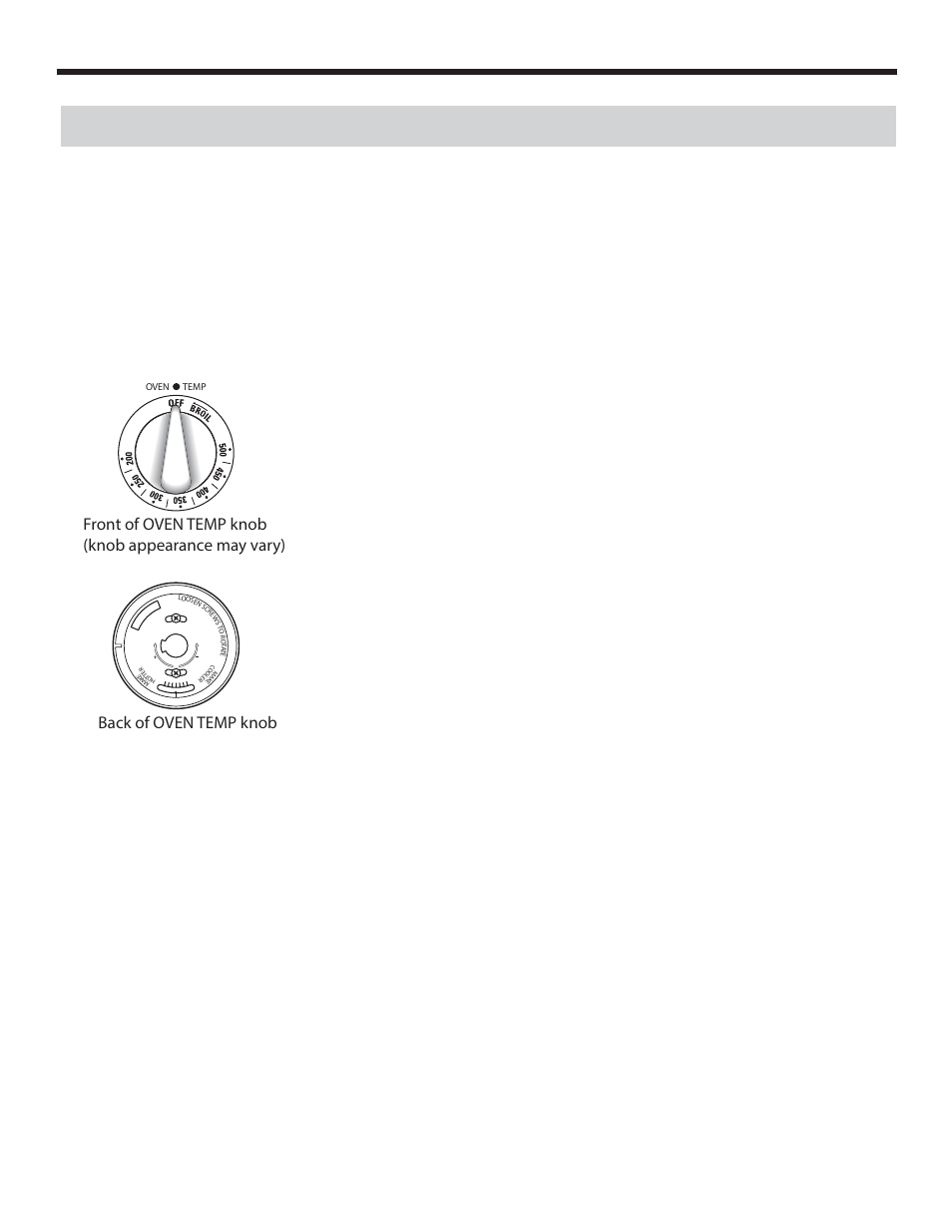Operation instructions, Adjust the oven thermostat - easy to do