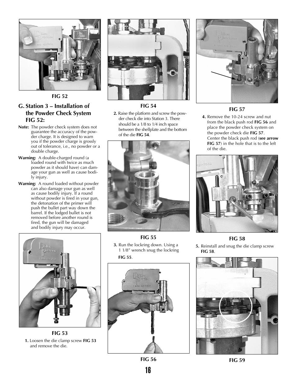 Dillon Precision XL 650 User Manual | Page 15 / 59