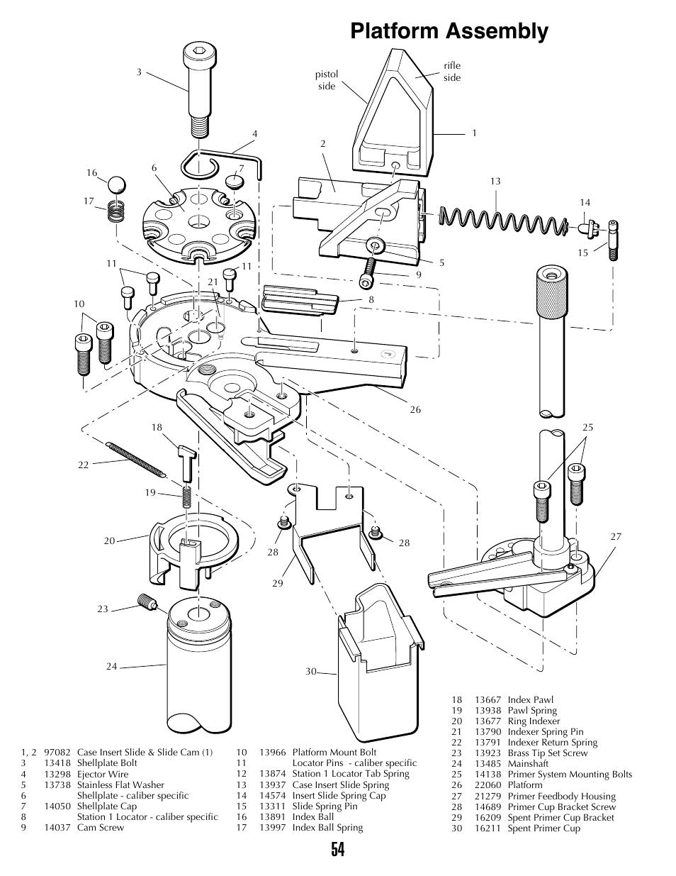 dillon precision xl 650 page53 platform assembly dillon precision xl 650 user manual page 53 59