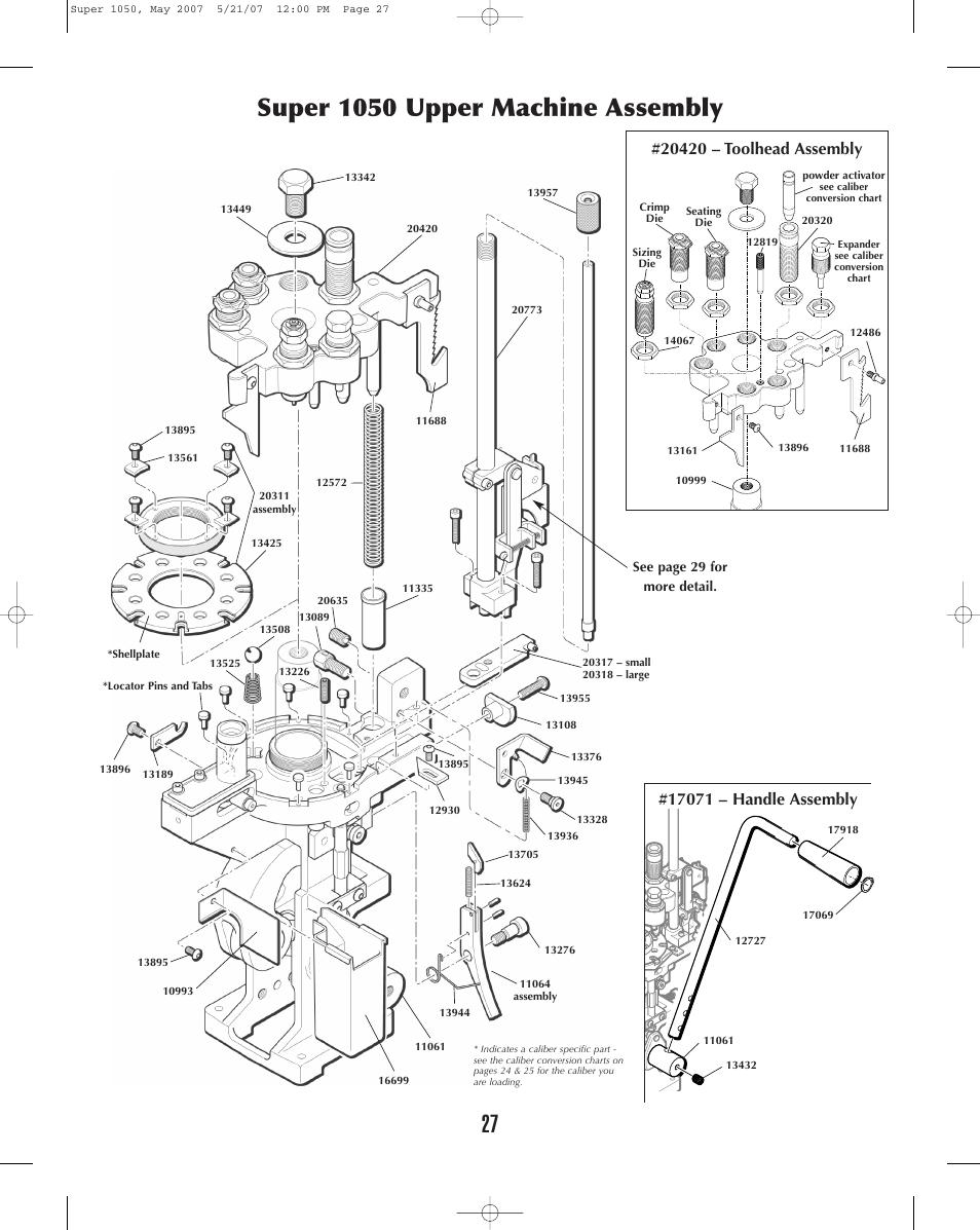 Super 1050 Upper Machine Assembly
