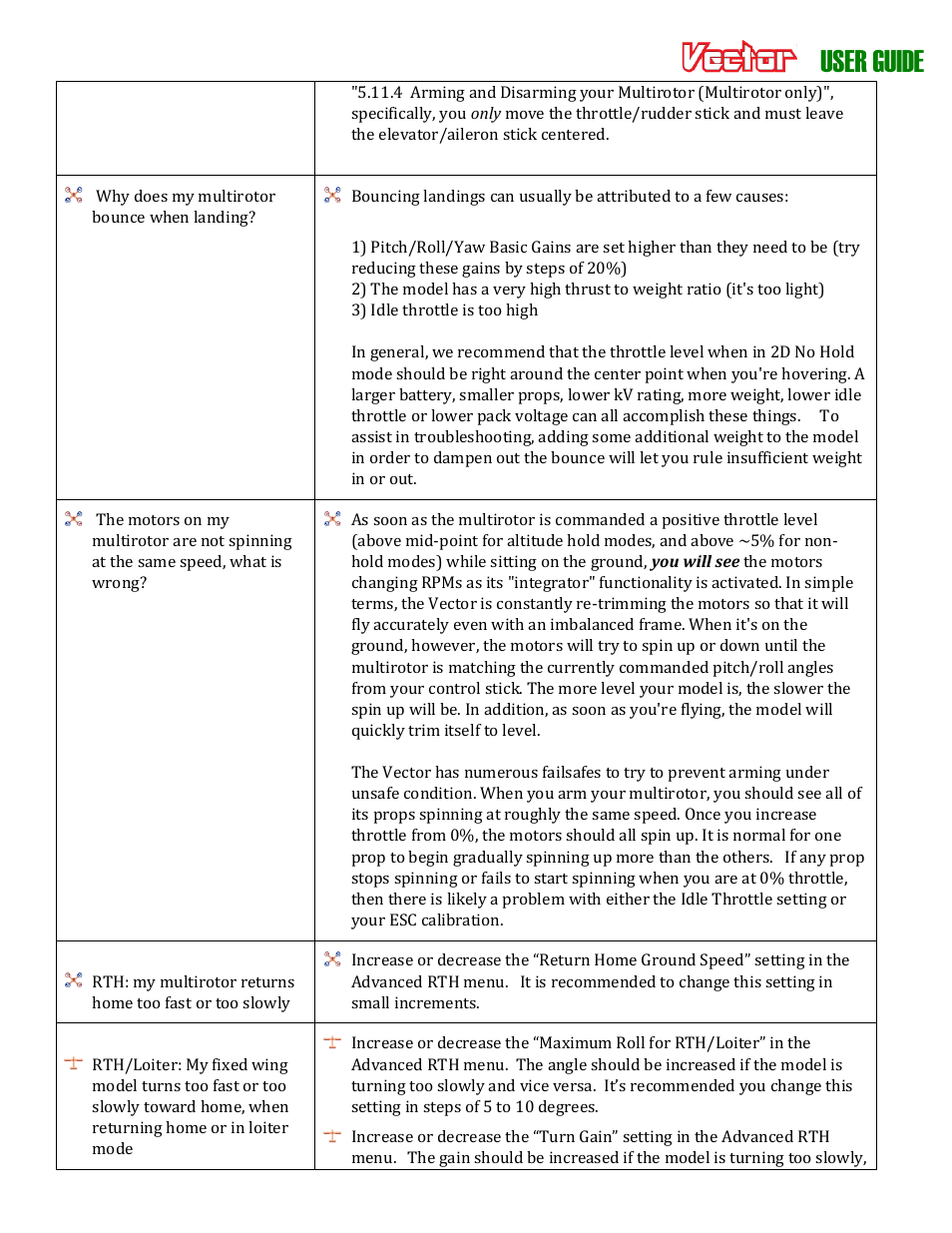 User guide | Eagle Tree Vector User Manual | Page 80 / 91