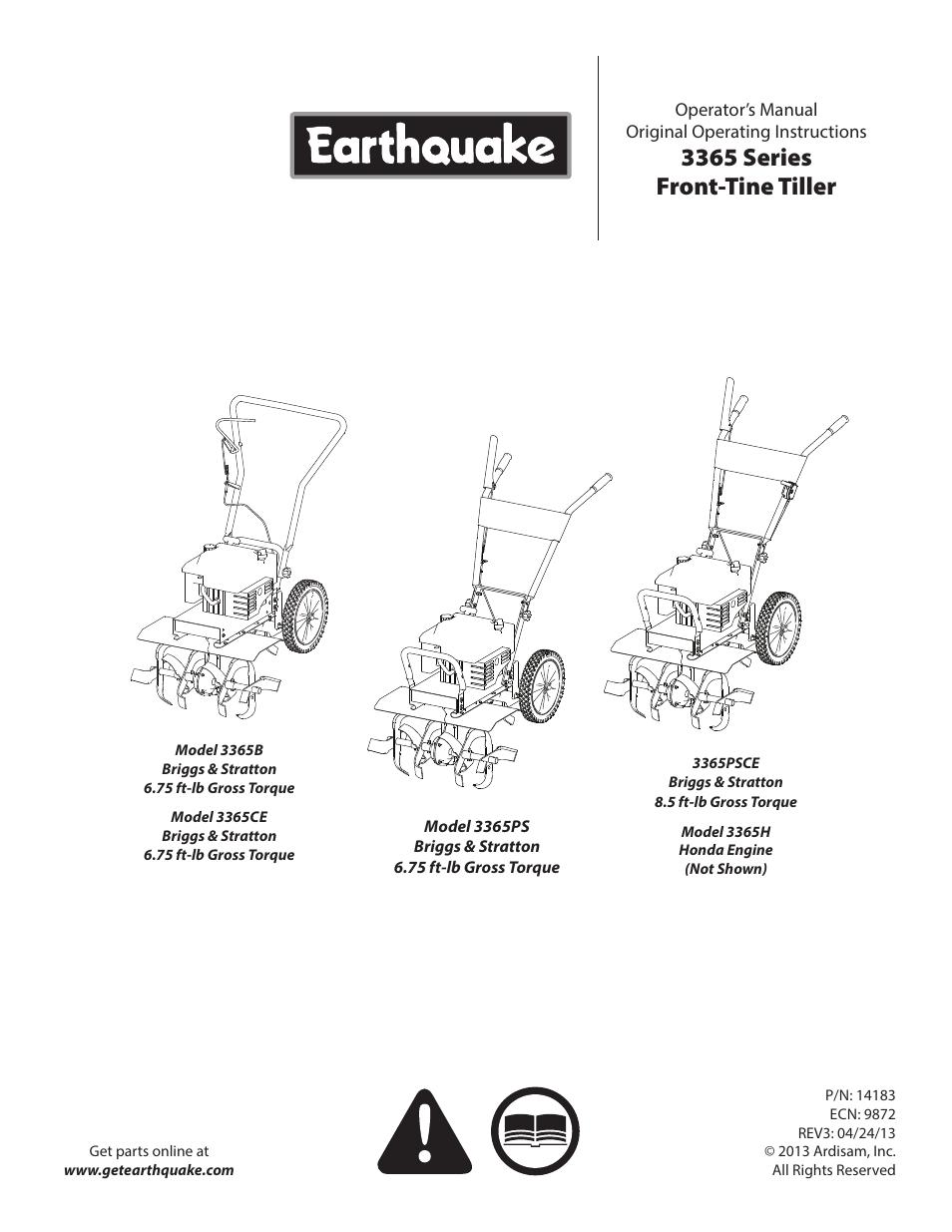 earthquake 3365ps user manual
