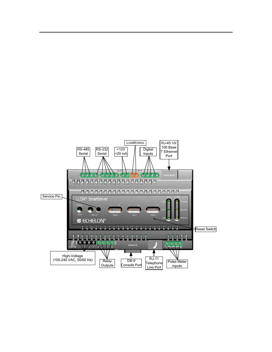 Wiring the smartserver connections | Echelon SmartServer 2.2 ...