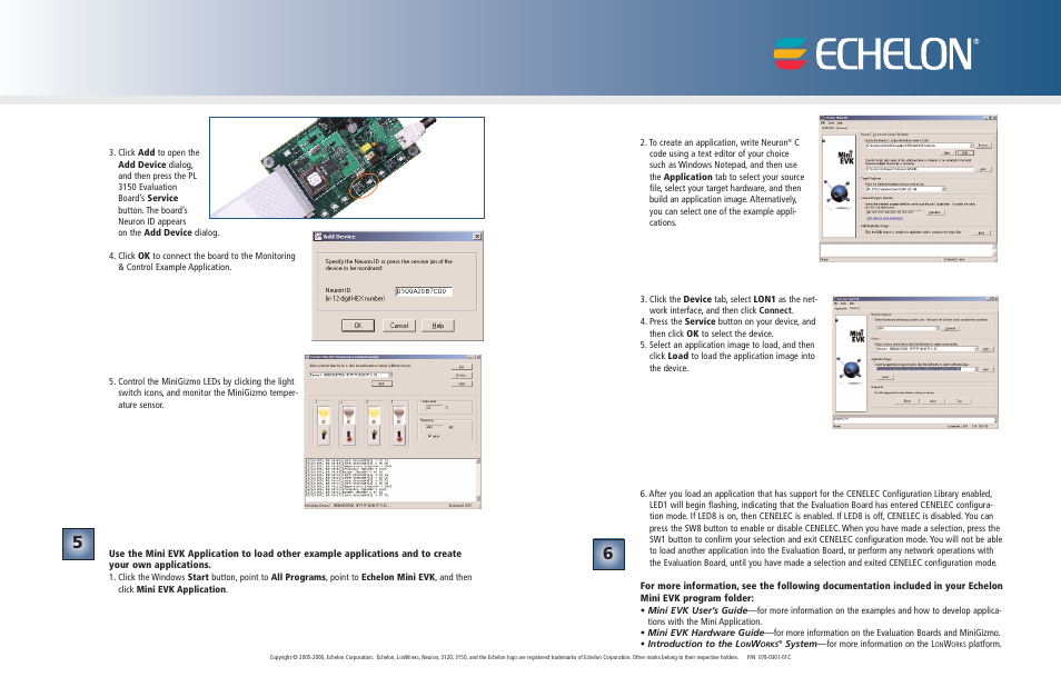 Echelon Mini EVK PL-20N User Manual   Page 2 / 2   Also for: Mini