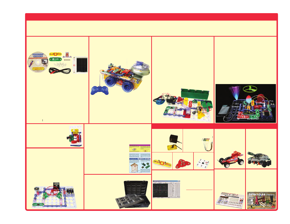 Other snap circuits, Products, Upgrade kit   Deluxe snap rover, Model uc-