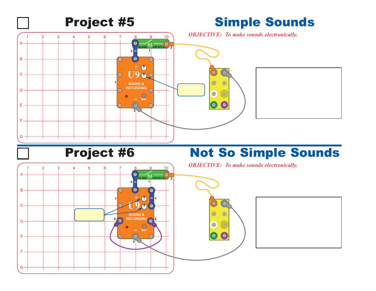 Project 5 Simple Sounds Not So 6 Elenco Circuit