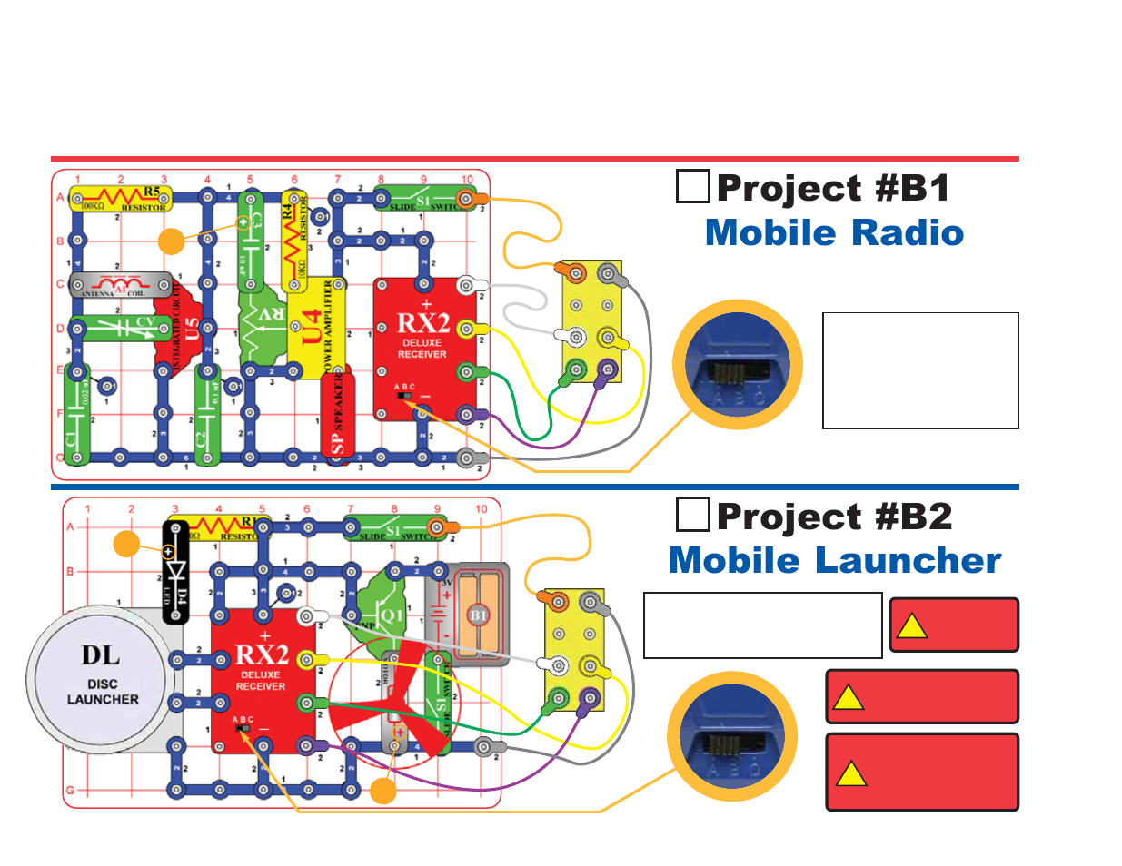 Snap Circuits 750 Manual Wiring Diagram For Professional Kits Project B1 Mobile Radio B2 Launcher Extreme Sc Pro