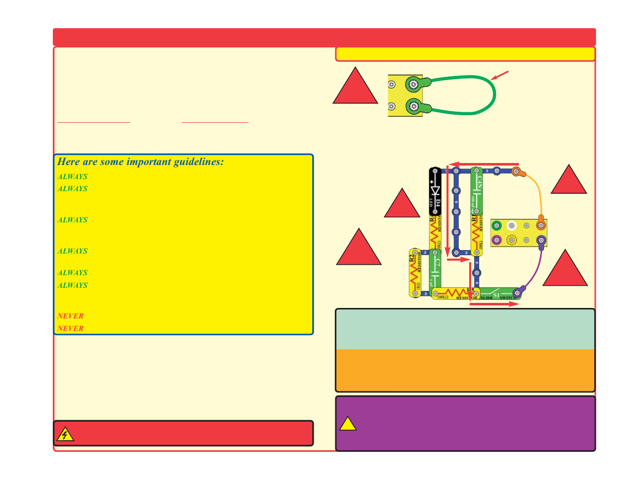Dos And Donts Of Building Circuits Elenco Deluxe Snap Roverreg Make Your Own Circuit User Manual Page 9 48
