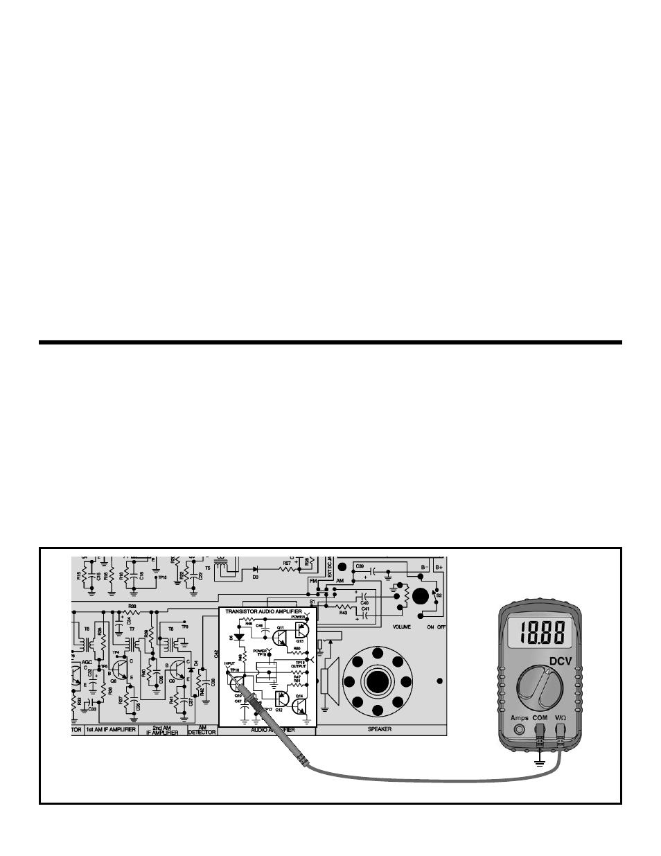 Dynamic measurements | Elenco AM/FM Radio Kit User Manual