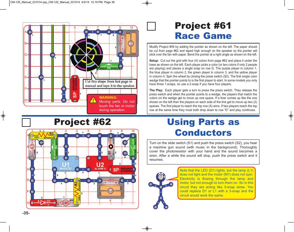 Elenco Circuit Maker Skill Builder 125 User Manual | Page 36 / 64