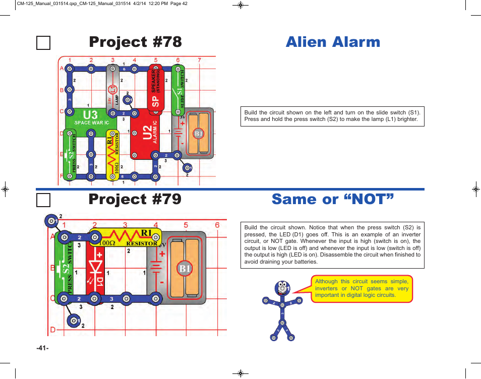 "Project #79 same or ""not, Project #78 alien alarm 