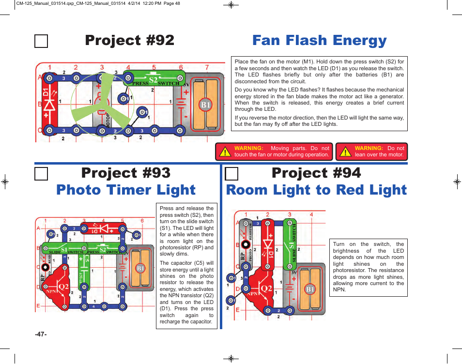 Elenco Circuit Maker Skill Builder 125 User Manual | Page 48 / 64