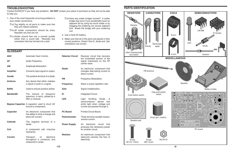 glossary troubleshooting parts identification elenco autoscan fm rh manualsdir com Vacuum Tube Amplifier Kit Amp Install Kit