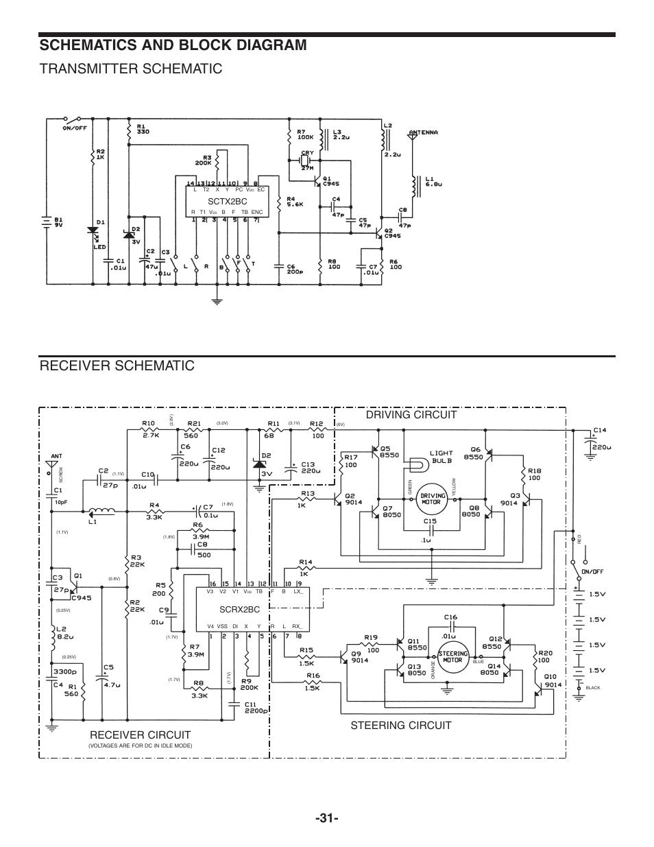 Schematics And Block Diagram  Transmitter Schematic