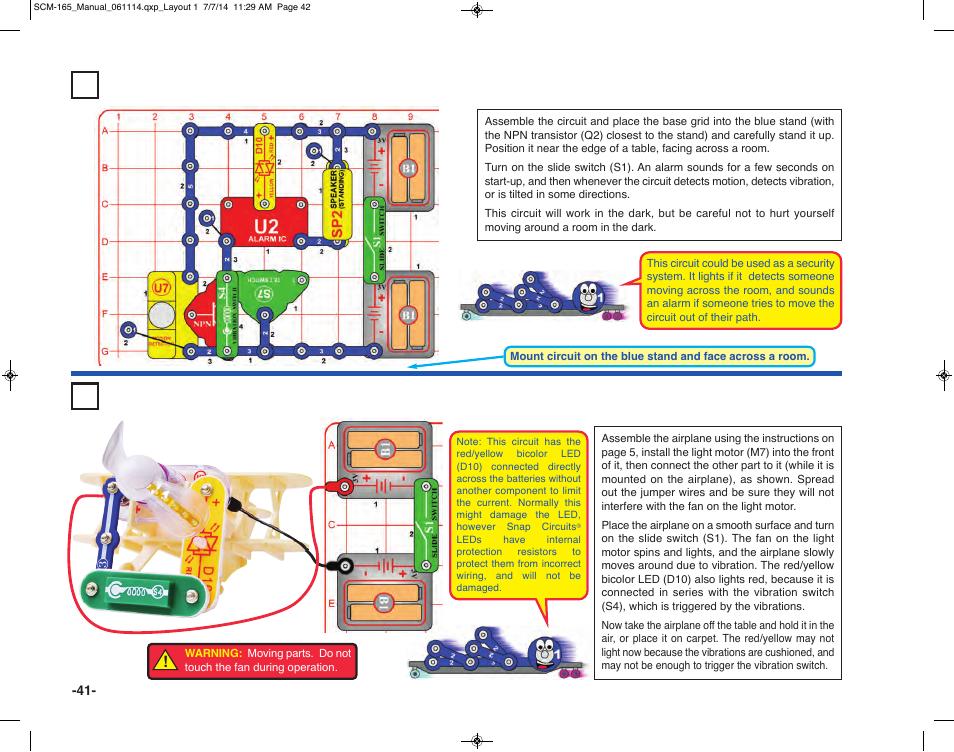project 64 audio triple detector project 65 vibration plane rh manualsdir com Snap Circuits Arcade Snap Circuits Car