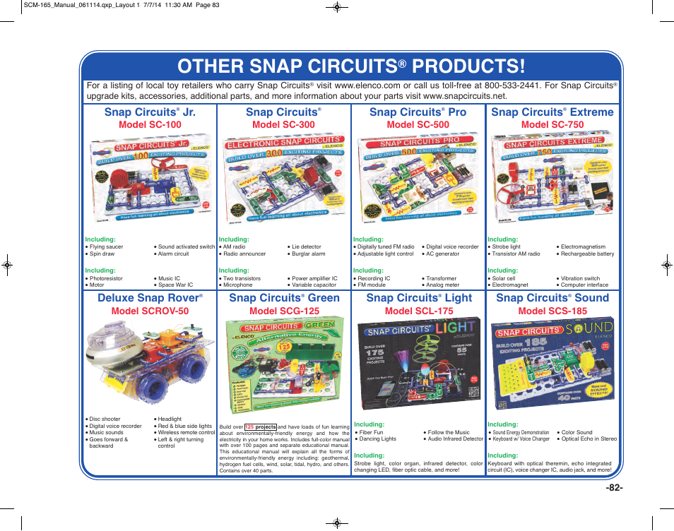 other snap circuits, products, snap circuits elenco snap circuitsother snap circuits, products, snap circuits extreme, green, deluxe snap rover