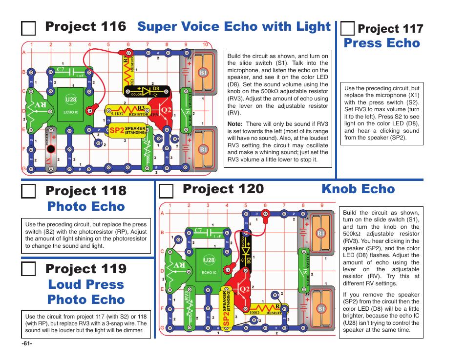 snap circuits motion detector manual