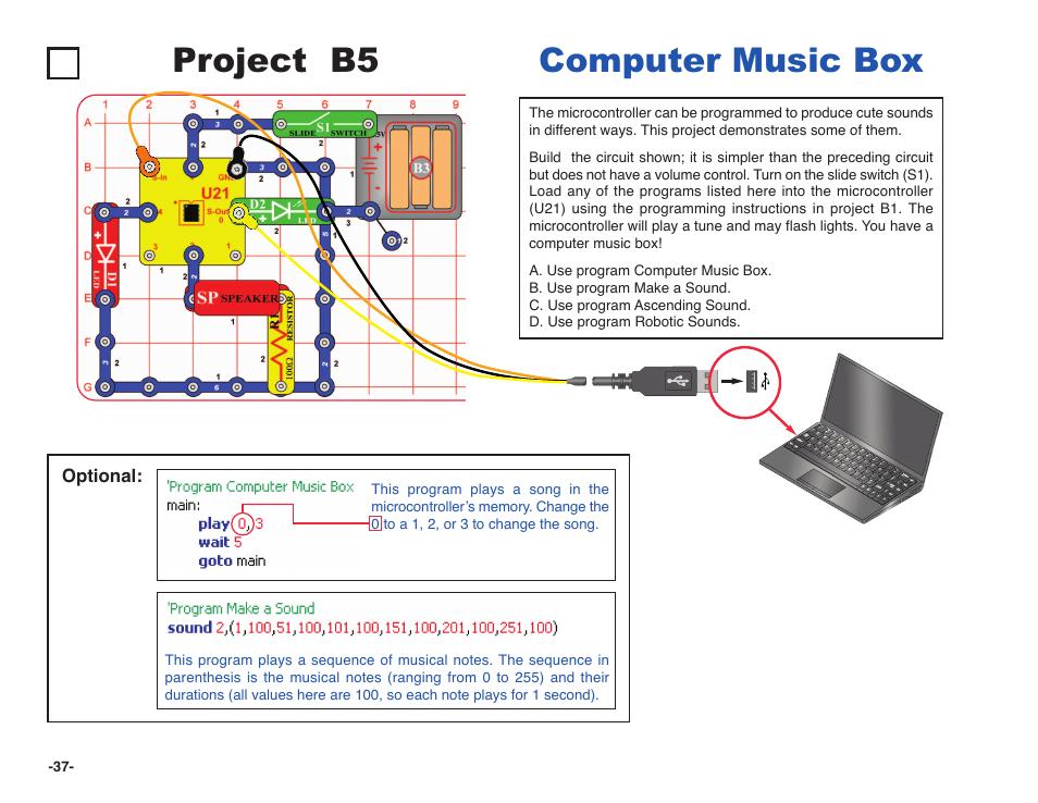 project b5 computer music box elenco snap circuits xp reg user rh manualsdir com user manual sbao watch user manual sbx ip 24 button telephonr