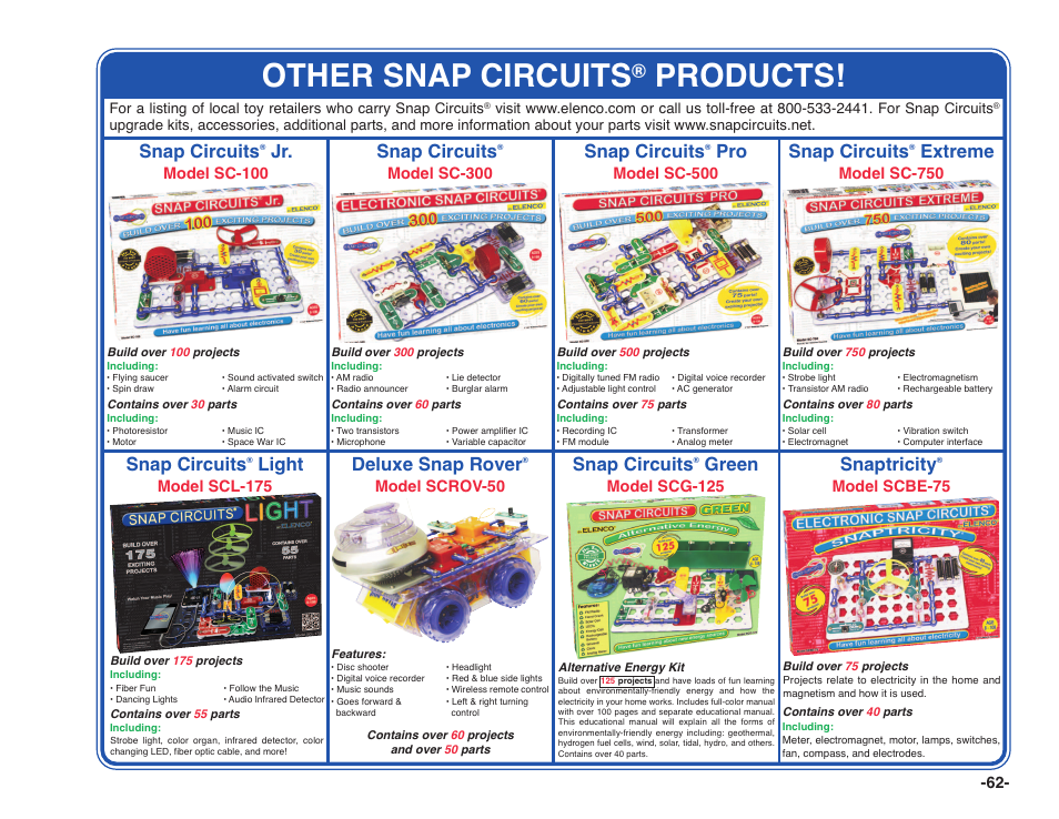 Other Snap Circuits Products Snap Circuits Elenco Snap Circuits