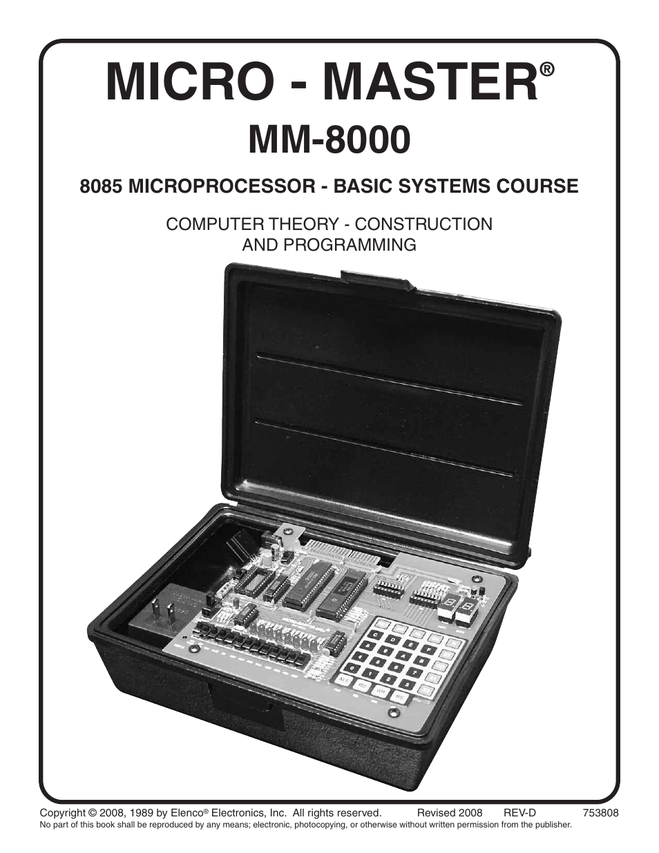 Elenco MM-8000 Micro-Master Computer Theory Trainer Education ...