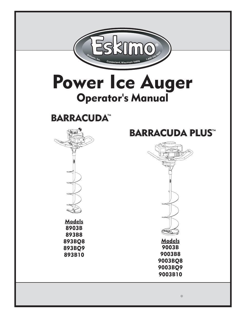 Eskimo 893BQ9 User Manual | 12 pages | Also for: 893BQ8, 893B8, 893B10,  8903B