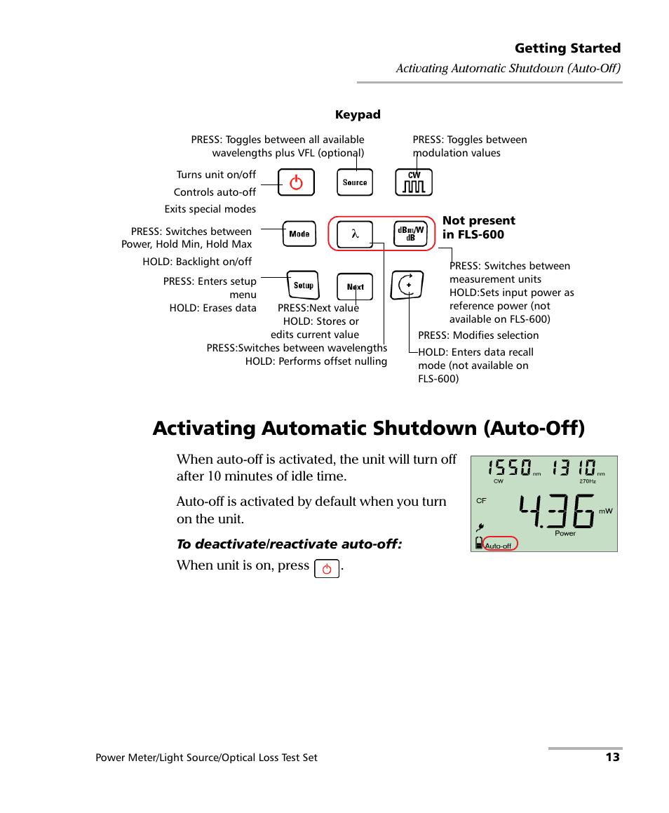 Activating Automatic Shutdown  Auto