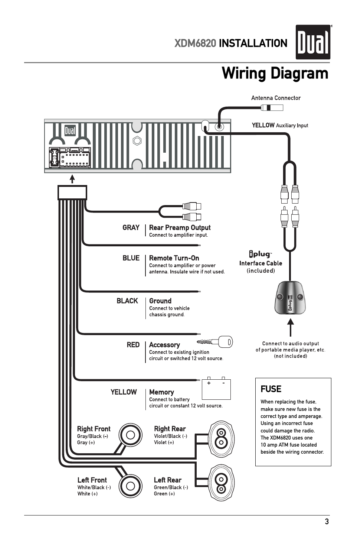 Dual Xdm6820 Wiring Diagram from www.manualsdir.com