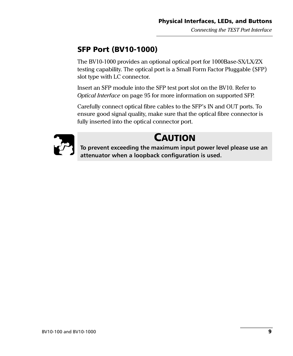 Aution | EXFO BV10 Performance Endpoint Unit User Manual