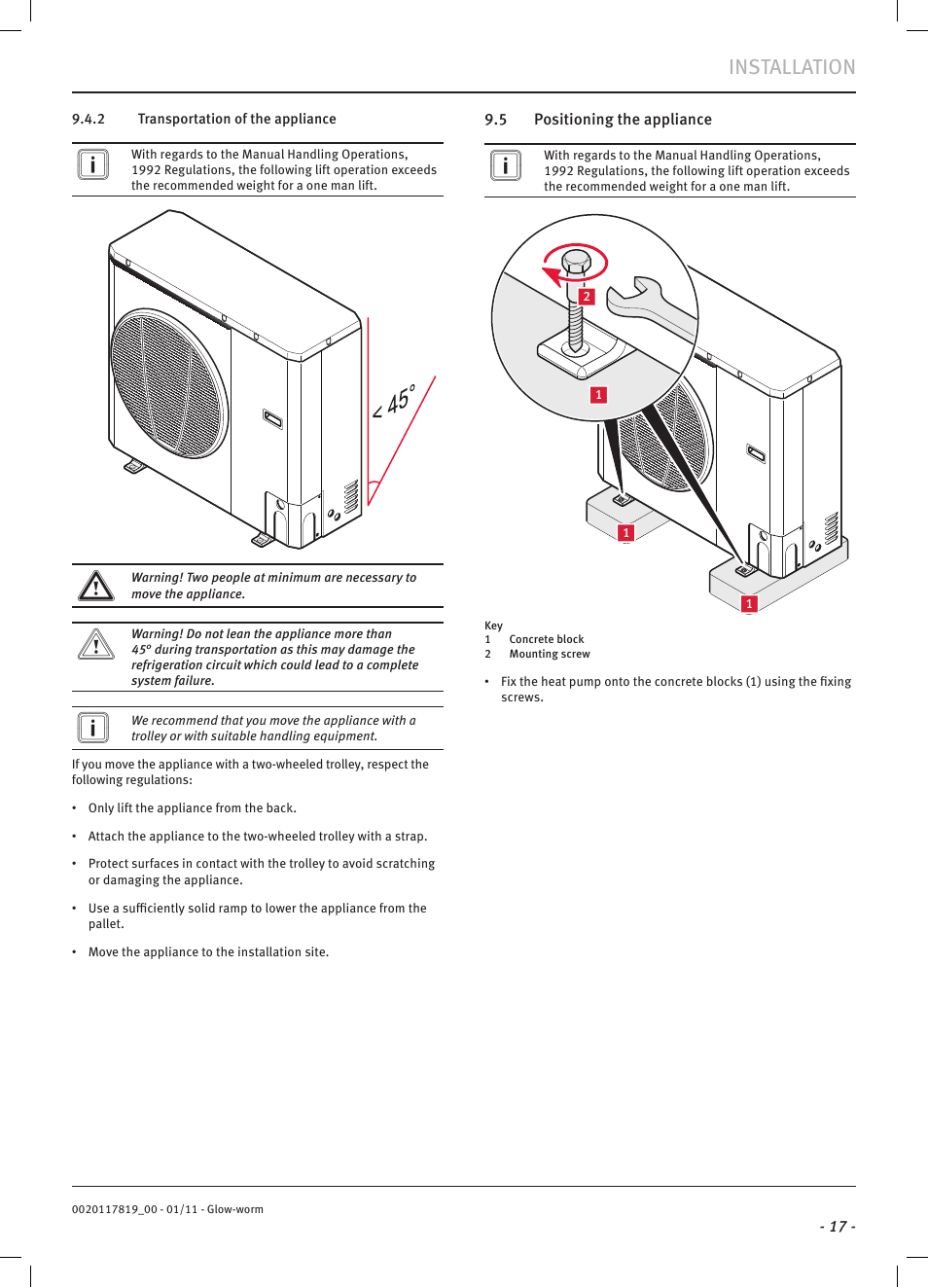 Installation | Glow-worm Clearly Heat Pumps Envirosorb2 User Manual ...