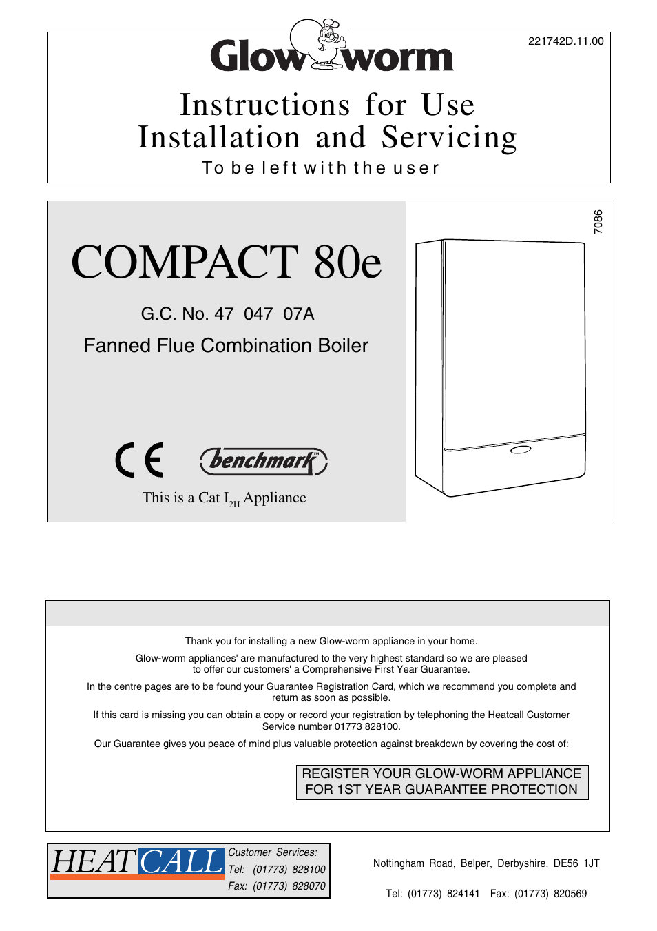 Glow-worm Compact 80E User Manual | 44 pages