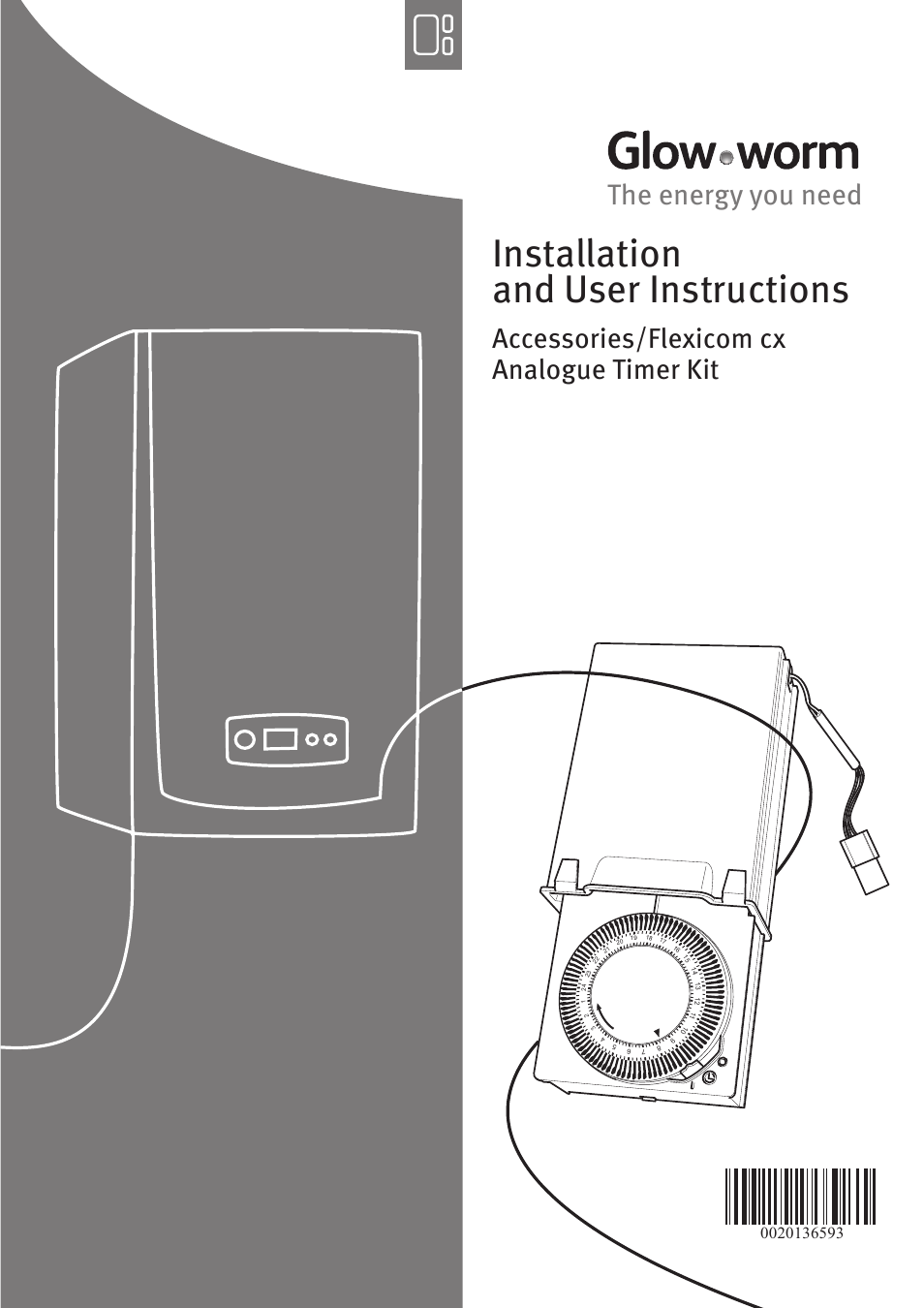 Glow-worm Flexicom cx Analogue Timer Kit User Manual | 4 pages