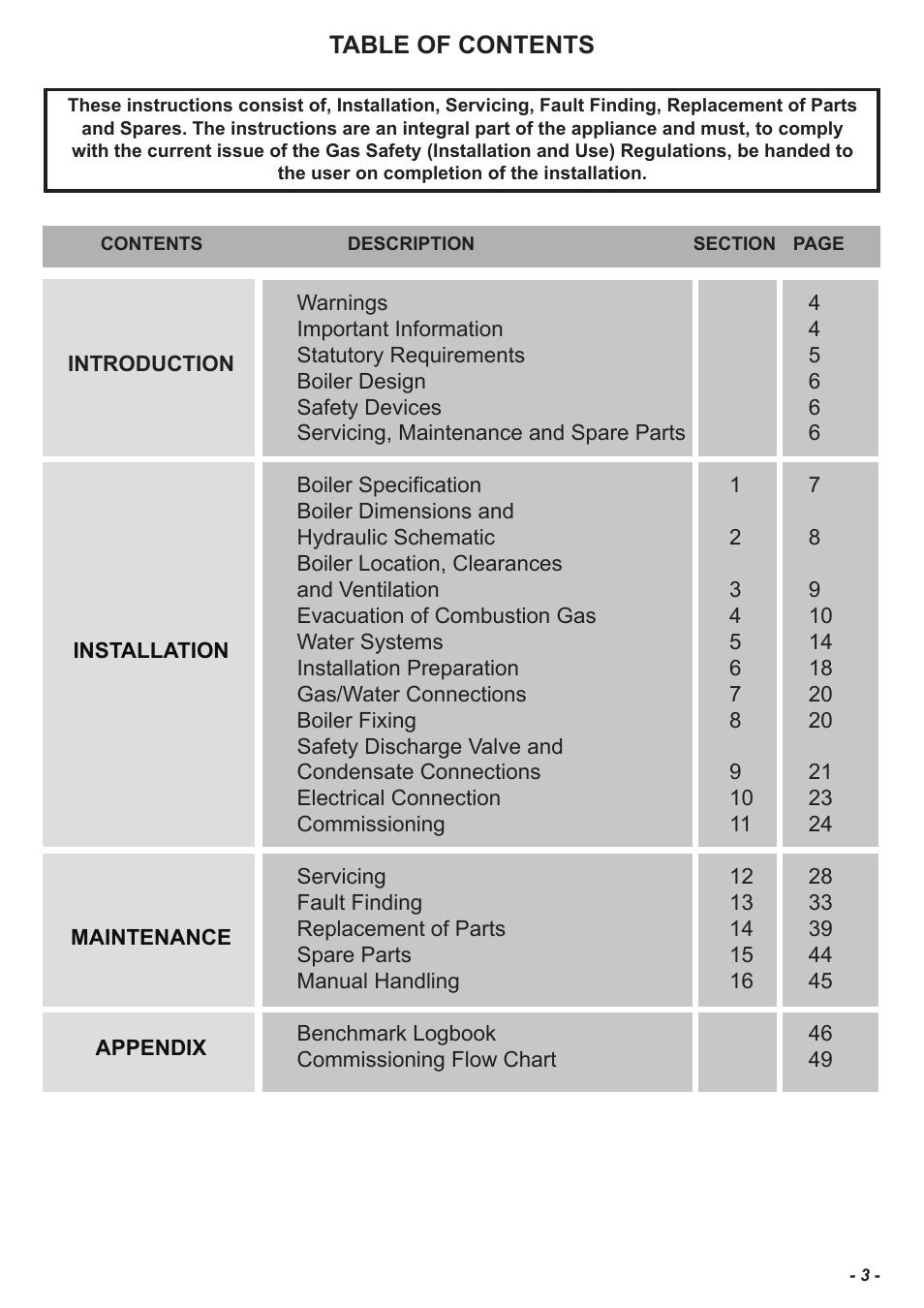 Glow-worm Flexicom sx User Manual | Page 3 / 52 | Original mode