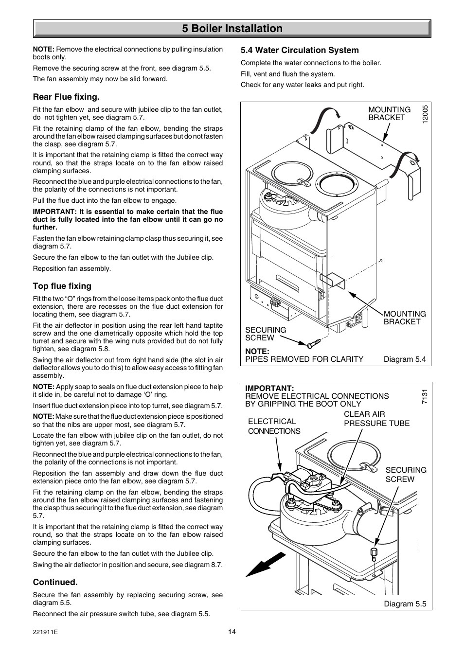 5 boiler installation | Glow-worm Micron 40FF User Manual | Page 14 ...